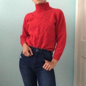 Vintage Red Wool Sweater